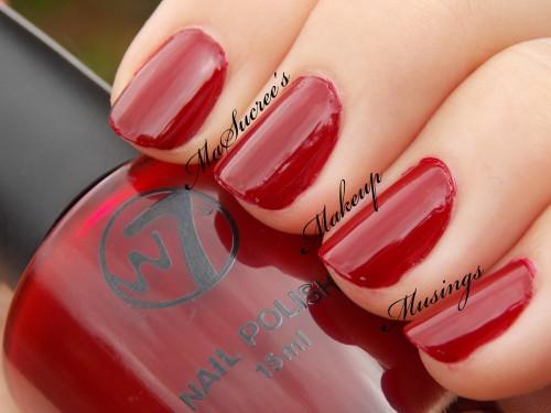 W7 Crimson Swatch 2