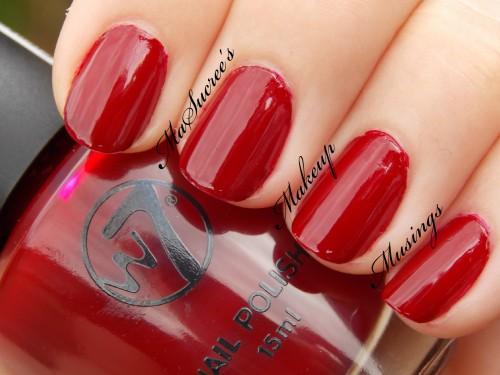 W7 Crimson Swatch