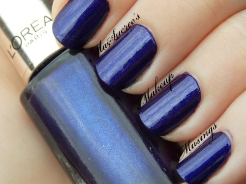 LOREAL Mystic Blue Swatch MMM 2