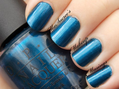 OPI Unforgretably Blue Swatch