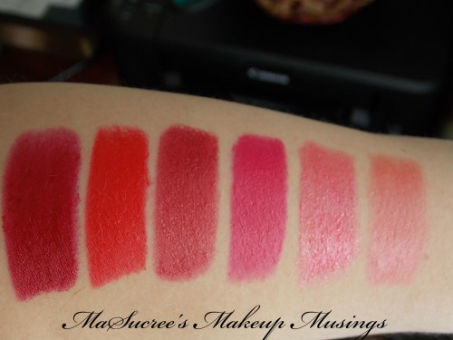 MUA Lipsticks ALL Swatches
