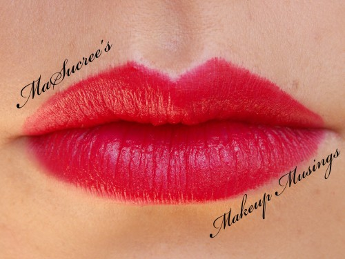 MAC Ronnie Red Lip Swatch