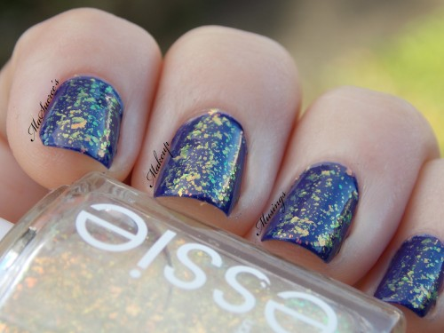 Essie SOTT Over OPI EE Swatch 2