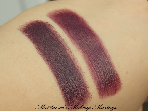 Mac Vs Revlon Dark Purple Hand