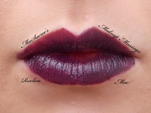 MAC Vs Revlon Dark Purple Lips 2