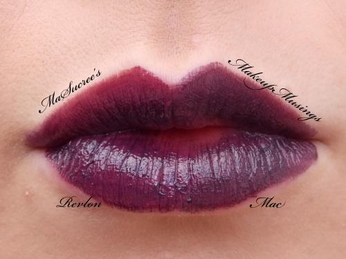 MAC Vs Revlon Dark Purple Lips